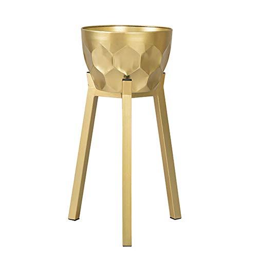 Stand de fleurs Xin Jardin Art De Fer Intérieur Salon Balcon Ménage Single Au Sol Pot De Fleurs d'or (Taille : M)