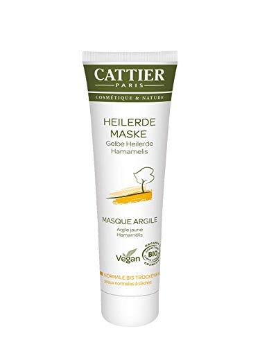 Cattier Heilerde Maske für trockene Haut, mit gelber Heilerde, zertifizierte Naturkosmetik, 100 ml