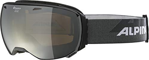ALPINA Unisex - Erwachsene, BIG HORN Q-LITE Skibrille, black matt, One size