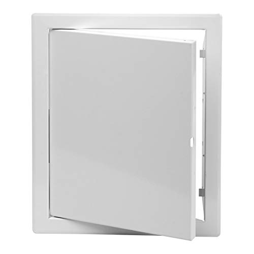 200x200 mm Revisionsklappe Wartungstür aus Metall 20x20 cm Revitür in weiß