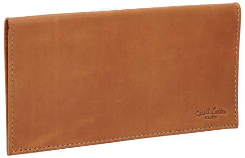 Gusti Leder studio Cullen Funda de Cuero para Talonario de Cheques Tarjetas de CR?dito Documentos Identificación Billetes Cartera Marrón 2A129-22-5