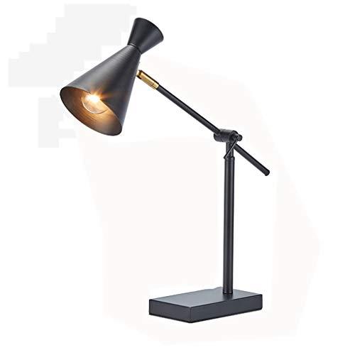FYJK LED-Arbeitstischlampe, Mid-Century Modern Curved Aufgabe Schreibtisch Tischlampe Industrie Pixar-Style-Schreibtischlampe für Wohnzimmer Schlafzimmer Esszimmer,Schwarz