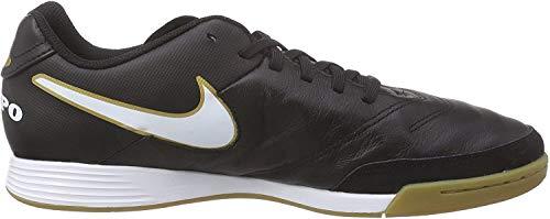 Nike Herren Hypervenomx Phelon III IC Fußballschuhe, Schwarz (Black/White-Metallic Gold), 40.5 EU