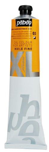 Pébéo - Olio fine XL 200 ML - Pittura ad Olio primario al cadmio Giallo - Pittura ad Olio Pébéo - Imitazione primaria al cadmio Giallo 200 ml