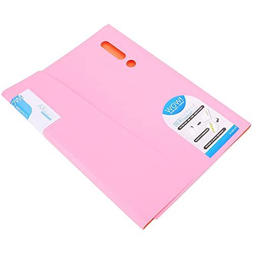 Carpeta de archivos de colores Organizador de archivos fácil de transportar 100 hojas Carpeta de archivos conveniente para llevar para la oficina y la escuela(W-C0012 powder)