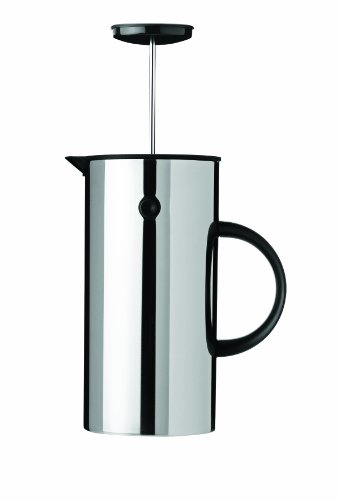 Save %42 Now! Stelton EM Press Coffee Maker, 8 cups, steel