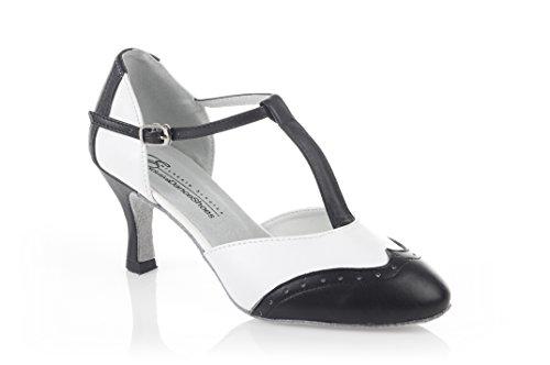Exclusive Dance Shoes Tanzschuhe Rockabilly Swing schwarz weiß (36.5)