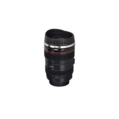 AAGOOD Kaffeetasse Kamera-Objektiv-Shaped Reise Thermos Edelstahl Thermobecher mit Easy Clean Deckel Home Decor
