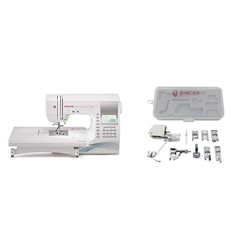 SINGER | Quantum Stylist 9960 Computerized Sewing Machine with Accessory Kit, Includes 9 Presser Feet, Twin Needles, & Case - Sewing Made Easy