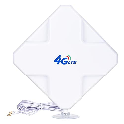 CRC9 4G Hochleistungs LTE Antenne 35dBi Dual Mimo Netzwerk Ethernet Verstärker-Antenne Signalverstärker für WiFi Router Mobiles Breitband, Huawei EC3372 E5377 E160 E160E E173 E1820 E367 E3131(CRC9)