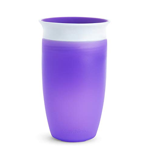 Munchkin Miracle 360° Vaso de Entrenamiento, Morado (Purple), 296 ml