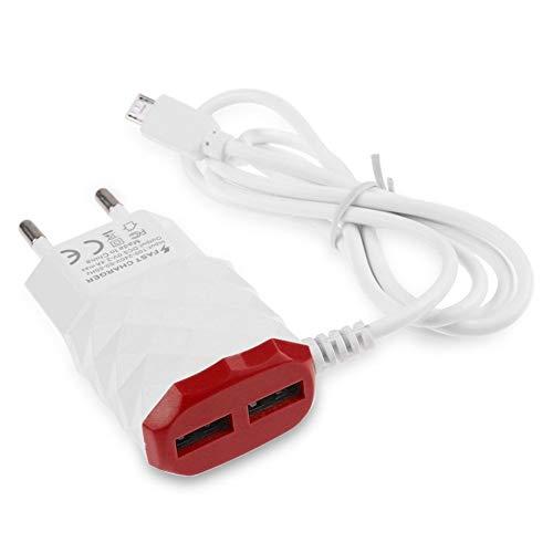 Shot Case Cable Cargador Toma 2Puertos Lightning Sector para iPad Mini 2Rojo