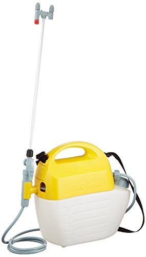 工進(KOSHIN) 乾電池式 噴霧器 タンク 5L ガーデンマスター GT-5HS 洗浄スイッチ付 ハイパワー 単一 電池 6本 防除 消毒 散布 肩掛け 家庭 お庭 手軽 簡単