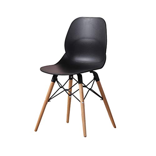 SLY Dineren Chair Retro Kitchen Chair, Office Onderhandelen Solid Wood Design Modern Simple Conference Bureaustoel (Color : Black)