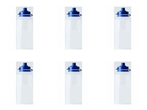 6 x Clear School Water Bottles SportsWater Bottles Kids Drink Water Bottles Choose Between School or Plain Bottle Clear 500ml