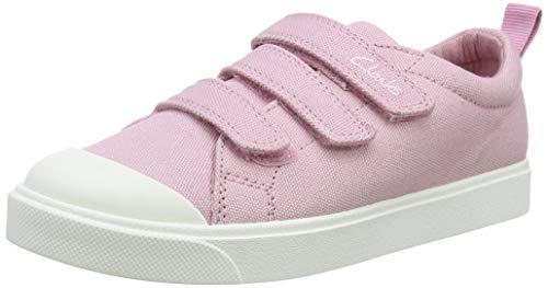Clarks Mädchen City Vibe K Sneaker Niedrig, Rosa (Pink Canvas), 34 EU
