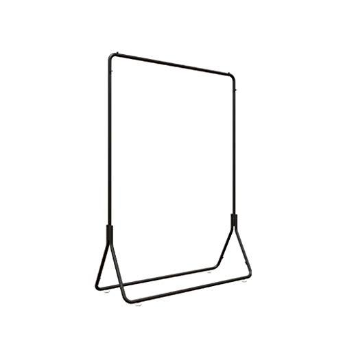 AOYANQI-Percheros Negro Escudo de aterrizaje Bastidores, Simplicidad Inicio ganchos de metal Ropa soporte de exhibición de múltiples funciones de ropa al aire libre del carril Multiusos