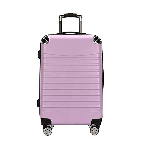 Ys-s Personalización de la tienda Caja de la carretilla del equipaje marco de aluminio cerradura nueva combinación maleta rueda femenina universal, versión coreana Maleta resistente al agua, resistent