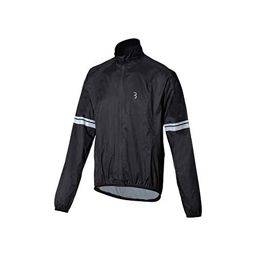 BBB Cycling Unisex-Adult StormShield 2.0 Jacket Radlerjacke Fahrrad Regenjacke | Winddicht Wasserabweisend Wasserdicht Herren und Damen Herbst Winter | MTB Urban Rennrad | XXXL BBW-481, Schwarz