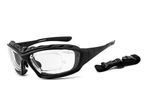 Chillout Rider®   Motorradbrille, Bikerbrille, Multifunktionsbrille   beschlagfrei, winddicht, bruchsicher   inkl. Brillenclip   Bügel/Band & Polster wechselbar