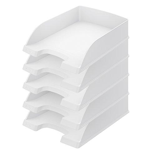 Leitz Plus Briefkorb, Standard, 5 Stück, weiß, 52270001