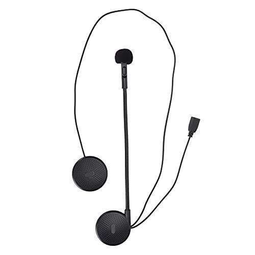 Motorradhelm Bluetooth-Headset, Kabelloser Universal-Helmkopfhörer mit Halterungsclip, Integriertes Anti-Interferenz-Mikrofon, Freisprecheinrichtung, Musikanrufsteuerung, Automatische Anrufannahme