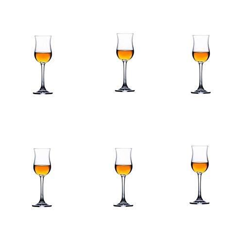 ERTYof Life Sommelier Singolo in Vetro di Whisky di Malto Usquebaugh Bicchiere da degustazione di Vini in Vetro di Whisky Sommelier, 6 Pezzi