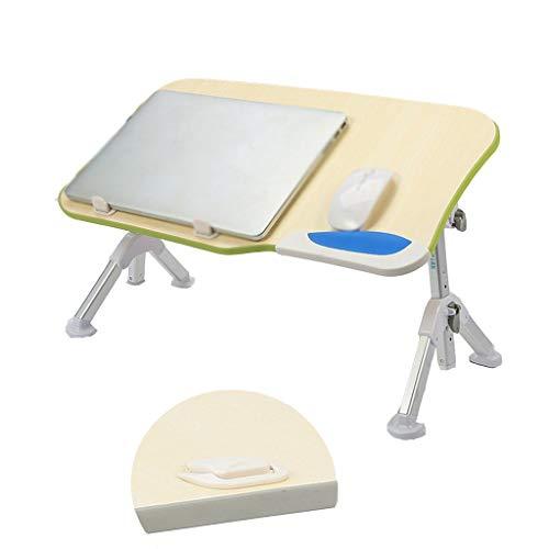 LiRuiPengBJ GWDJ Lapdesks Faltbarer Laptop-Schreibtisch, Höhenverstellbarer Laptop-Ständer, Tragbarer Notebook-Steh-Frühstücks-Leseschreibtisch für Sofa-Couch-Boden (Color : Green)