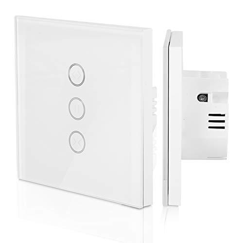 Interruptor de la cortina de WiFi, Interruptor inalámbrico inteligente con APP Control remoto o control de voz,Tiempo inteligente