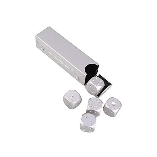 CDKJ 5 Piezas de Metal Dados Juego de Pulido Manual de Aluminio sólido Seis Caras Dados...