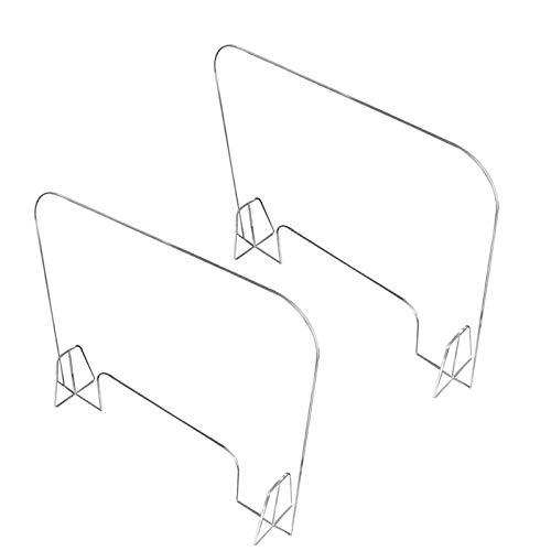 Apodis Spit Protection with Through-Cough Protection, 2 Pcs Schutzwand aus Acrylplexiglas mit Handelbarem Fenster, Teiler Wird für Supermarkt, Geschäftsempfang, Verhandlung Verwendet