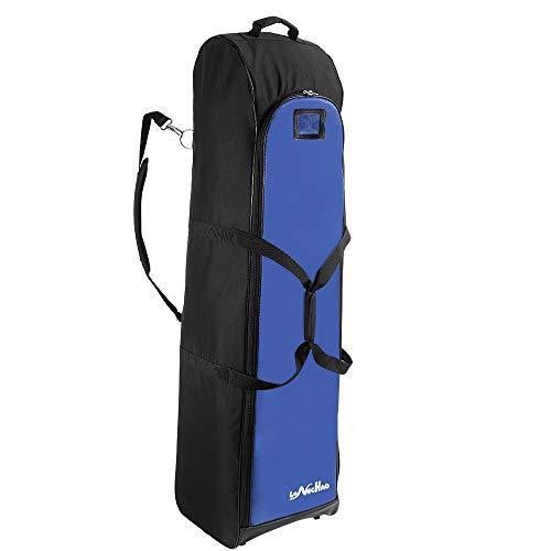 LONGCHAO Golf Travel Bag- Hard Golf Travel Case Portable Golf Club Travel Cover Hard Support 600D PVC Cloth Golf Carry Bag