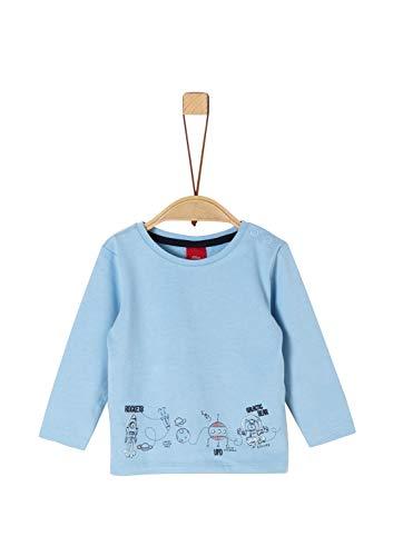 s.Oliver Baby-Jungen 65.911.31.7611 Langarmshirt, Blau (Blue 5312), (Herstellergröße: 80)