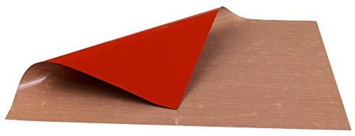 LARES - Dauerbackfolie Antirutsch - wiederverwendbar & zuschneidbar - aus Glasfasergewebe/Silikon - 32 x 40 cm - Made in Gemany