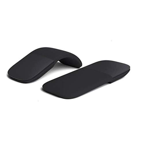 DSJTCH for Microsoft Surface Bluetooth Foldable Wireless Ergonomic Arc Touch Computer Mouse 3D Silent Laser PC Mause for Windows Laptop (Color : Black)