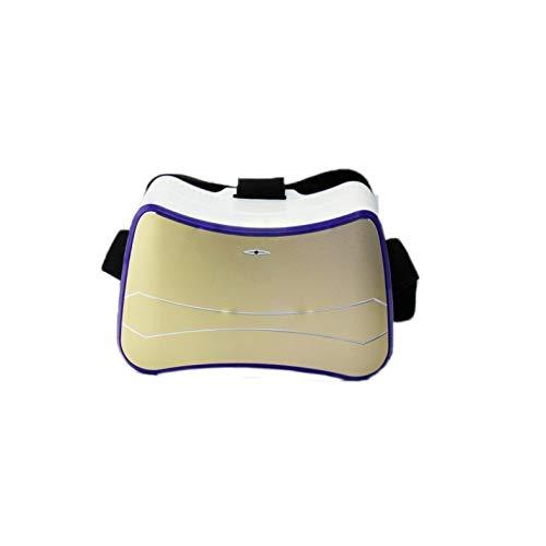 VR Equipos, Equipos de AR, Gafas 3D CTJ Quad Core Todo en uno VR Headset Android 4.4 1G / 8G Gafas de Realidad Virtual 3D WiFi Bluetooth USB TF Tarjeta Glavey (Oro) (Color : Gold)