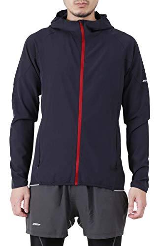 PONTAPES(ポンタペス) ランニング ウェア メンズ スリム ジャケット 上下セット 全10色 PRNM_PRSM PRSM-04(BKRD*DG)(スリムジャケットタイプ) L サイズ ジョギング スポーツウェア ウォーキング テニス キャンプ アウトドア ウェア