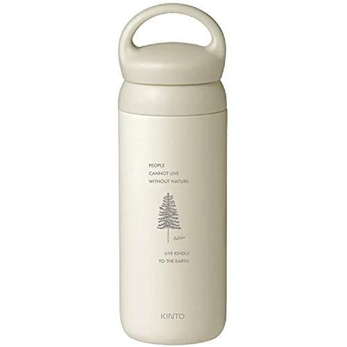 [名入れ無料] KINTO キントー デイオフタンブラー 水筒 500ml DAY OFF TUMBLER 刻印 ギフト プレゼント ボトル マグ タンブラー (ホワイト, ネイチャー)