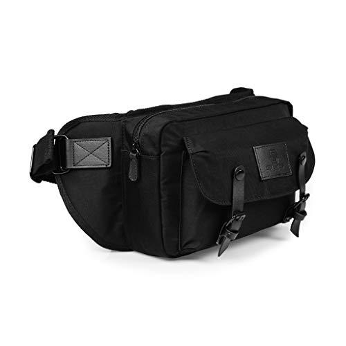 SEVENTEEN LONDON – Moderne, einfache und Unisex 'Hackney Waist Bag' Gürteltasche in schwarz mit einem klassischen Design im Skandi-Stil – perfekt für iPad