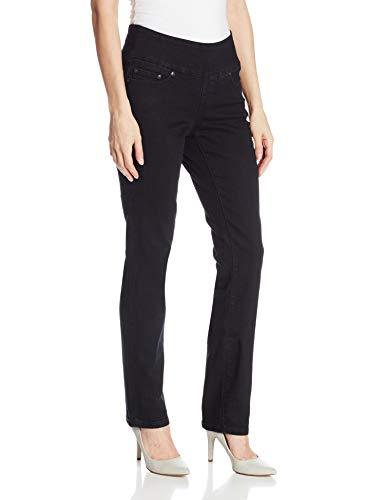 Jag Jeans Women's Peri Pull On Straight Leg Jean, Black Void, 12