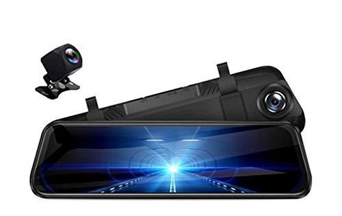 XUNGED 12'Coche DVR Retrovisor Espejo 4G Android 8.1 Dash Cam GPS Navigation ADAS Full HD 1080P Coche Video Cámara Grabadora DVRS (Color Name : A950, Sd Card Memory : None)
