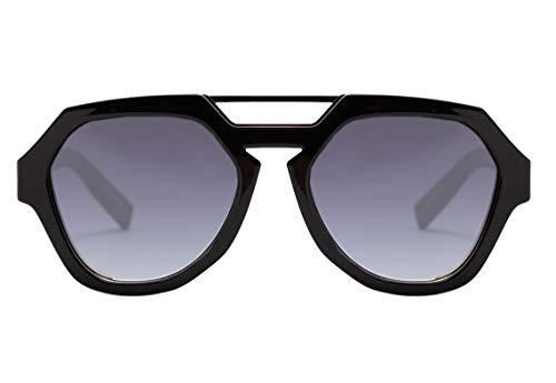 Óculos de sol Avalanche, Evoke, Adulto-Unissex, Preto Brilhante/Verde, Único