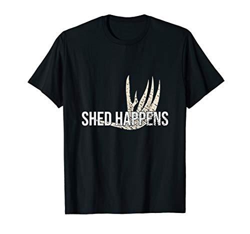 Shed Happens Hunting Deer antler T-Shirt