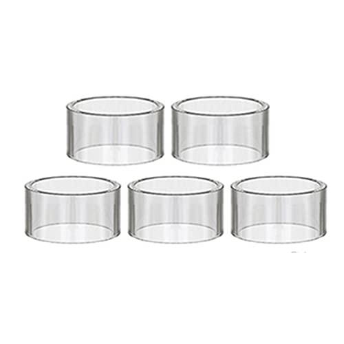 Denghui-ec 5 unids Rectos Mini Vasos de Vidrio Aptos para Diamante Mini PD270 Bebé/Ajuste para Tornado 150 Hero Nano RDTA/Plus sin límite Tubo DE Cristal XL