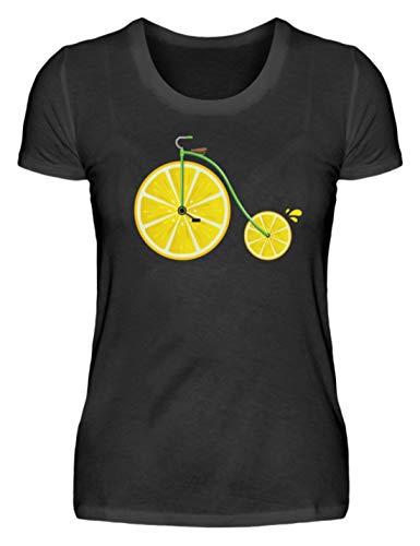 Maillot de cyclisme générique citron - Pour femme - Noir - XXL