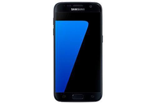 Samsung Galaxy S7, Smartphone libre (5.1'', 4GB RAM, 32GB, 12MP) [Versión británica: No incluye Samsung Pay, acceso a promociones Samsung Members ni enchufe europeo], color Negro