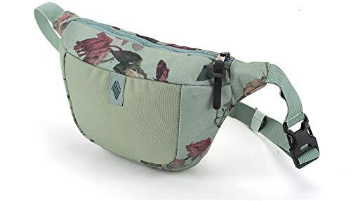 Hip Bag, Stylische Brusttasche, Gürteltasche mit 2 Fächern, Travel Pack, Heritage Umhängtasche, Festival Hüfttasche, Bauchtasche, 25 x 14 x 8cm, Dead Flower