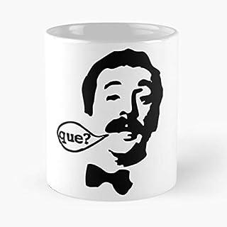 Manuel Fawlty Towers Cleese TV BBC Python John England Monty La Mejor Taza de café de cerámica Blanca de 11 oz