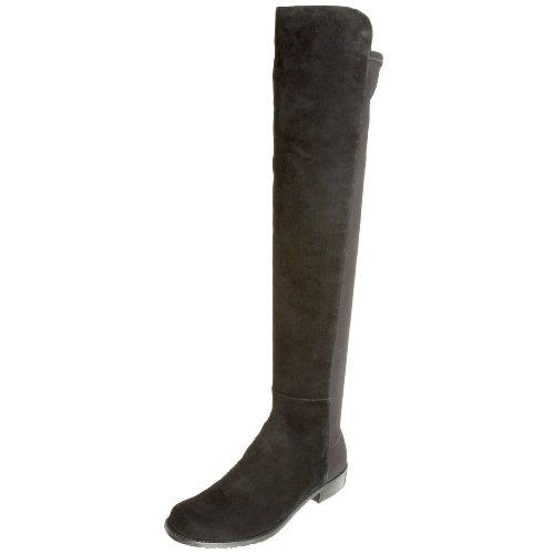 Stuart Weitzman Women's 5050 Over-the-Knee Boot,Black Suede,6.5 M US