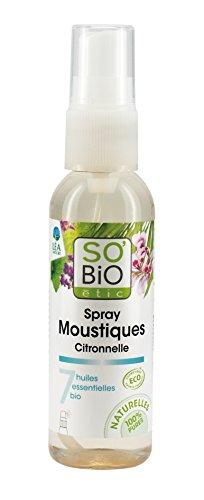 SoBio Étic Aromathérapie Spray Moustiques Citronnelle 75 ml
